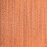 Makore  wood veneer Royalty Free Stock Image
