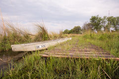 Makoro Dock in Okavango Delta Royalty Free Stock Photo