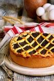 Makovnik - traditional ukrainian yeast pie. Stock Photo