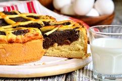 Makovnik - traditional ukrainian yeast pie. Royalty Free Stock Photos