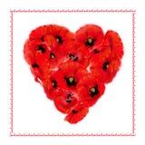 Makowa Kierowa miłości karta ilustracja wektor