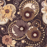 Makowego kwiatu bezszwowy wzór 10 eps royalty ilustracja