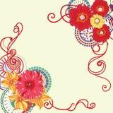 Makowego kwiatu karciany projekt 10 eps royalty ilustracja