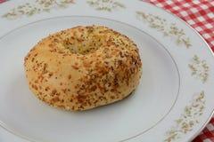 Makowego ziarna sezamowego ziarna sera bagel Obraz Royalty Free