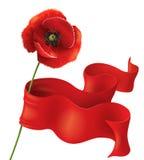 Makowy i czerwony faborek Zdjęcia Royalty Free