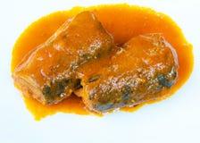 Makreelvissen in tomaat sause Royalty-vrije Stock Afbeelding