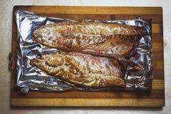 Makrela piec na węglach Fotografia Stock