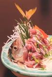 Makrelensashimi, japanisches Lebensmittel Lizenzfreies Stockbild
