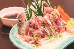Makrelensashimi, japanisches Lebensmittel Lizenzfreie Stockfotografie