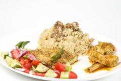 Makreli ryba wołowiny Biryani sałatka Obraz Royalty Free