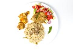 Makreli ryba wołowiny Biryani sałatka Zdjęcie Royalty Free