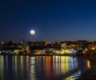 Makrigialos in moonlight Stock Image