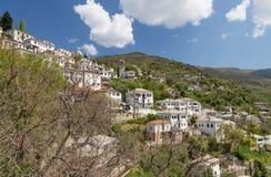 Makrinitsa村庄, Pelio,希腊 免版税库存图片