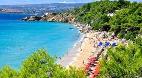 Makris Yalos Лонг-Бич, остров Kefalonia, Ionian острова, Греция Стоковые Фотографии RF