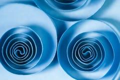 Makro abstrakt begrepp, bakgrundsbild av kulöra pappers- spiral Arkivfoto