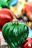 Makro altmodische Weihnachtsverzierung Stockbilder