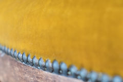 Makro- antykwarski meble - rocznika meblarski szczegół Zdjęcia Stock
