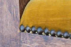 Makro- antykwarski meble - rocznika meblarski szczegół Zdjęcia Royalty Free