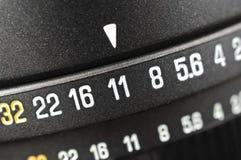 Makro- apertury skala zdjęcie stock