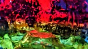 Makro auf einem farbigen Glas lizenzfreie abbildung