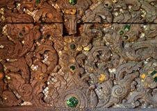 Makro av ett gammalt stycke av trä Royaltyfri Bild