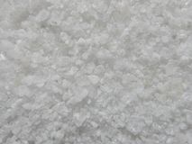 Makro av grovt salt fotografering för bildbyråer