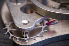 Makro av klockamekanismen Royaltyfri Fotografi