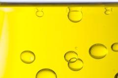 Makro av olje- droppar arkivbilder
