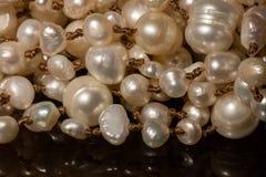 Makro av pärlor arkivbild