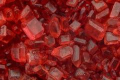 Makro av rött socker royaltyfri bild