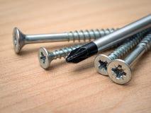 Makro av skruvar och skruvmejslar Royaltyfri Fotografi