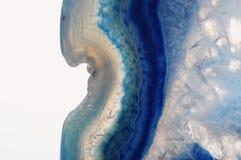Makro- błękitny agata kamień Obrazy Royalty Free