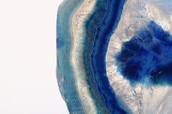 Makro- błękitny agata kamień Zdjęcia Stock