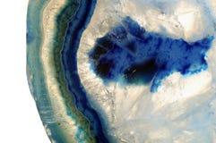 Makro- błękitny agata kamień Zdjęcie Royalty Free