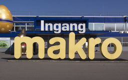 Makro is a cash and carry wholesale Stock Photos