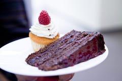 Makro- czekoladowy tort obraz royalty free