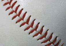 Makro der Baseballnähte stockfotos