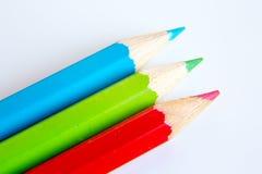 Makro der Bleistifte RGB Lizenzfreie Stockfotografie