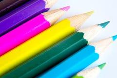 Makro der farbigen Bleistifte Stockbilder