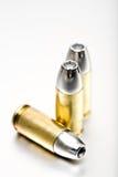 Makro der Gewehrkugeln 9mm Stockfotografie