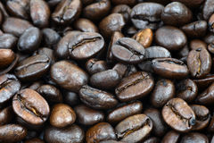 Makro der Kaffeebohnen Stockfotos