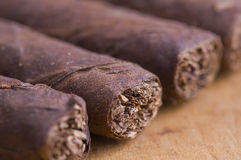 Makro der kubanischen Zigarren Lizenzfreie Stockbilder