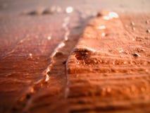 Makro der silbernen und kupfernen Farbe auf Segeltuch Stockfotos