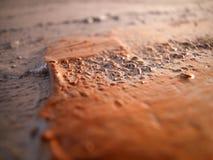 Makro der silbernen und kupfernen Farbe auf Segeltuch Stockfoto