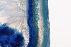 Makro des blauen Achatsteins Stockfotografie