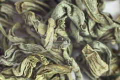 Makro des grünen Tees Stockfoto