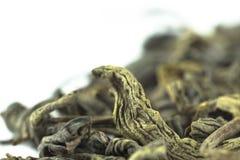 Makro des grünen Tees Lizenzfreies Stockbild