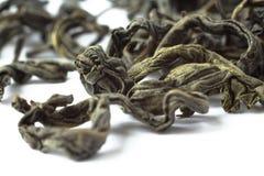 Makro des grünen Tees Stockbild