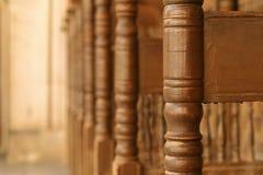 Makro des hölzernen Stuhls Stockbilder