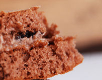 Makro des Kuchens, Beschaffenheit Stockfoto